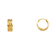 14K Gold Huggies Endless Earrings
