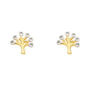 14K Gold Family Tree Earrings