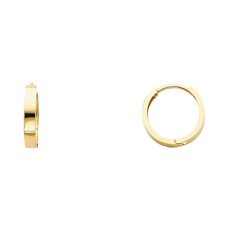14K Gold 2.5mm Huggie Hoops