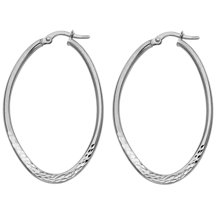 14K Gold Hollow Hoops