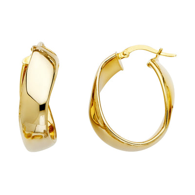 14K Gold 8mm Hoops