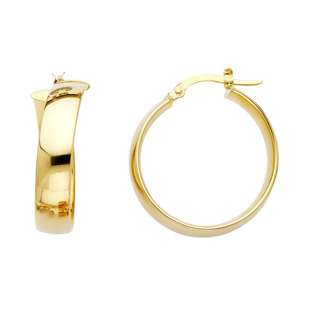 14K Gold 6mm Hoops