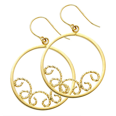 14K Gold Shape Hoop Earrings