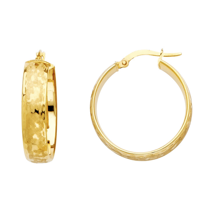 14K Gold 6mm Hollow Hoops