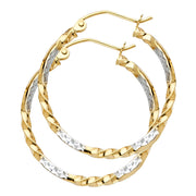 14K Gold Curled Hoops