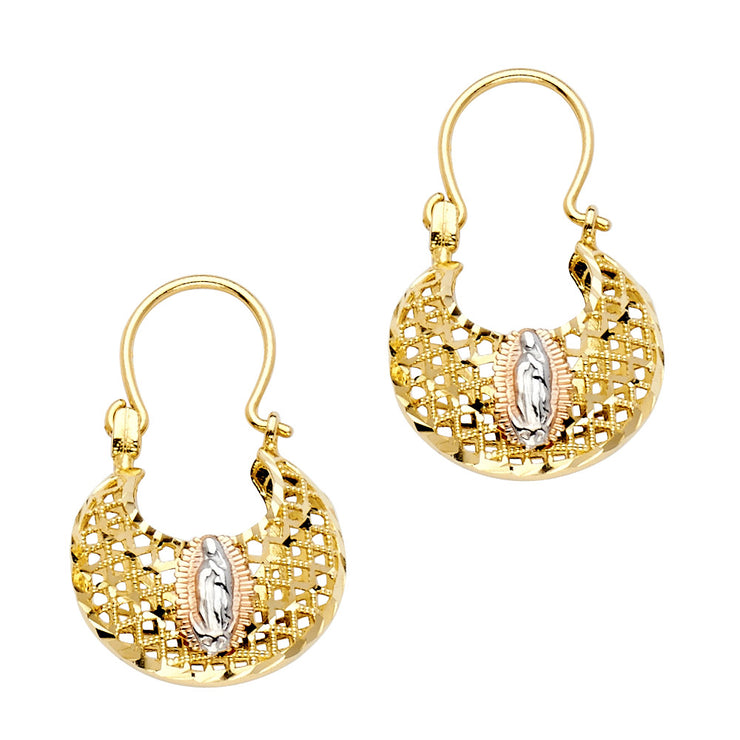 14K Gold Guadalupe Basket Earrings