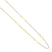 14K Gold Forever Love 6 Infinity Charms Long Chain Necklace - 20'