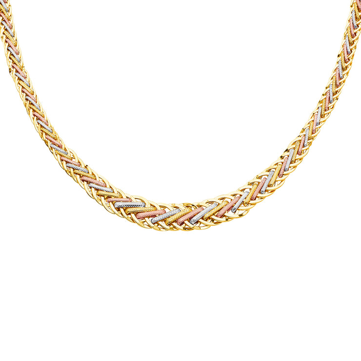 14K Gold Fancy Graduated Hollow Chain Necklace - 18'