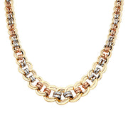 14K Gold Fancy Hollow Necklace - 18'