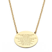 14K Gold Lord Spanish Prayer Necklace in Spanish - 17+1'