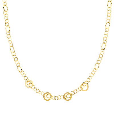 14K Gold Airy Links Necklace - 36'