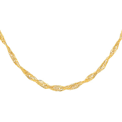 14K Gold 5mm Flexible Wired Necklace - 17+1'