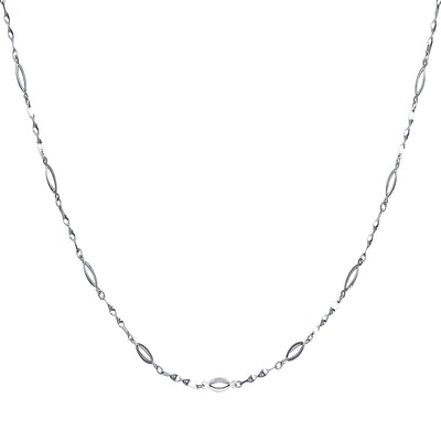 14K Gold Fancy Twisted Link Necklace - 17+1'