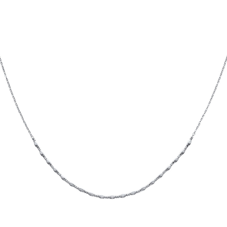 14K Gold Fancy Beaded Necklace - 17+1'