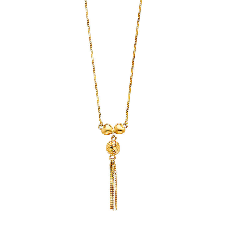 14K Gold Fancy Drop Necklace - 17'