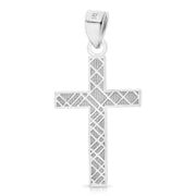 14K Gold Cross Religious Pendant
