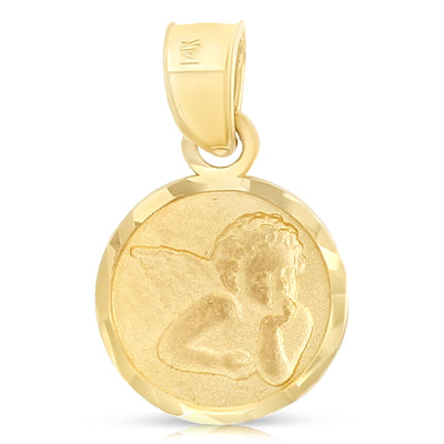 Fine Gold Jewelry Jewellery 14k stamped gold pendants for necklace or chains guardian angel pendant