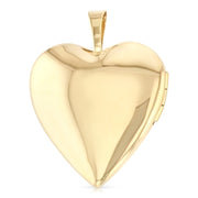 14K Gold Engraved Heart 'I Love You' with Enamel Rose Flower Locket Charm Pendant