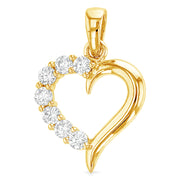 Journey Heart of Life CZ Pendant Pendant for Necklace or Chain
