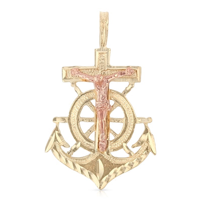 Cross Religious Crucifix Anchor Pendant for Necklace or Chain for men/women