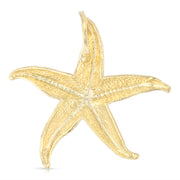 14K Gold Starfish Charm Pendant with 1.2mm Box Chain Necklace