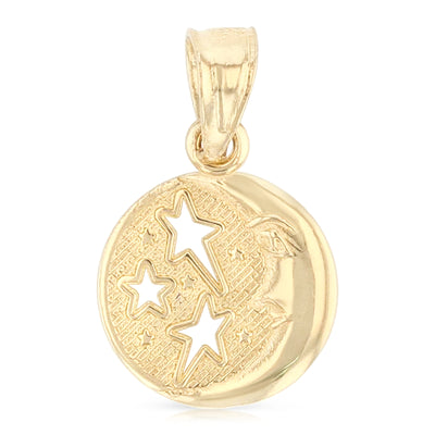 Moon & Star Pendant Pendant for Necklace or Chain
