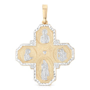 4-Way Jesus Cross Pendant for Necklace or Chain