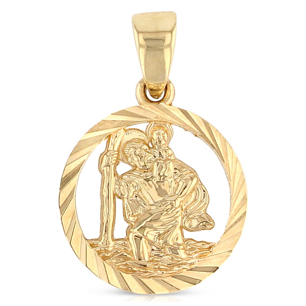 Saint Christopher Pendant for Necklace or Chain