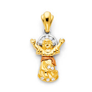 Infant Jesus Pendant for Necklace or Chain