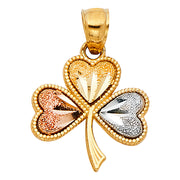 Heart Clover Pendant Pendant for Necklace or Chain
