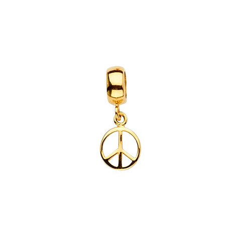 Peace Charm Pendant for Necklace or Chain