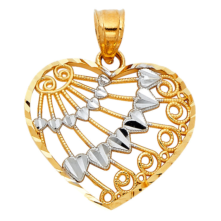 Heart Pendant for Necklace or Chain