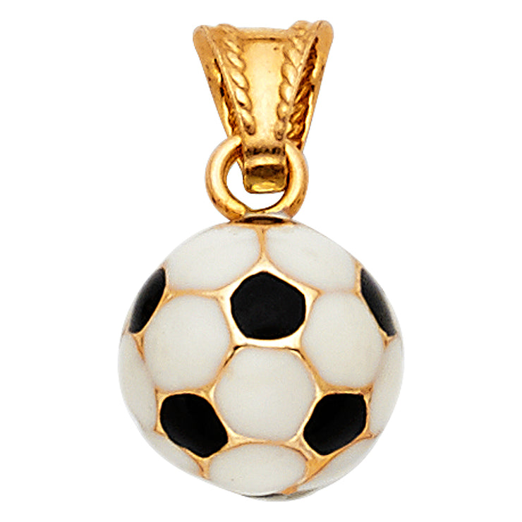 Soccer Ball Enamel Pendant for Necklace or Chain