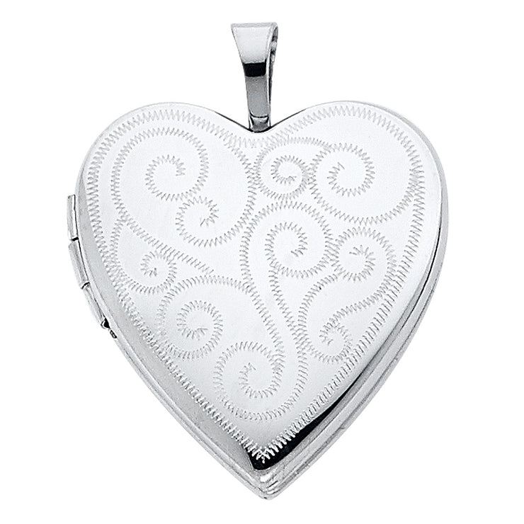 Heart Locket Pendant for Necklace or Chain