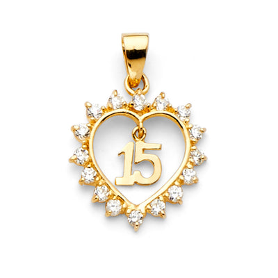 Quinceanera Pendant for Necklace or Chain