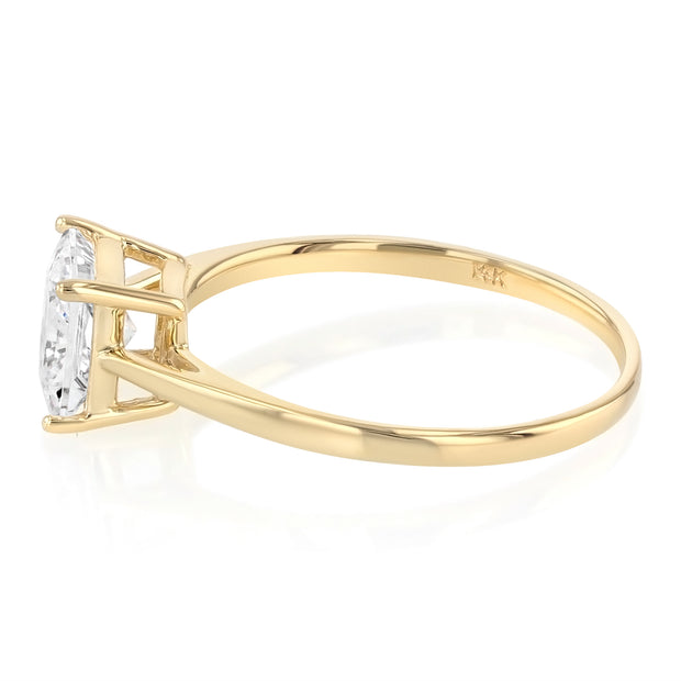 14K Gold  Princess Cut CZ Wedding Engagement Ring