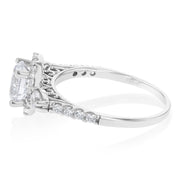14K Gold 0.75 Ct. Round Cut with Halo CZ Wedding Engagement Ring