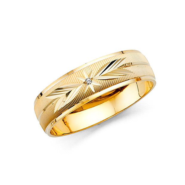 14K Solid Gold 8MM Traditional Men's Wedding Band Ring