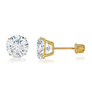 14k gold earrings for daily wear in white gold