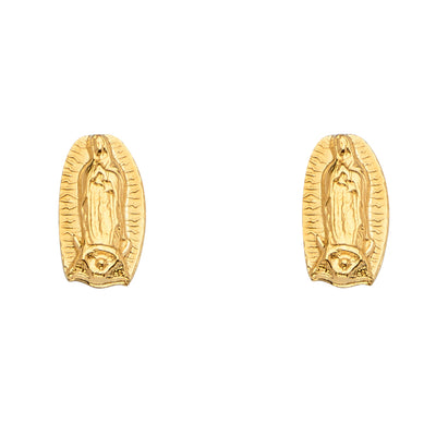 14K Gold Guadalupe Stud Earrings
