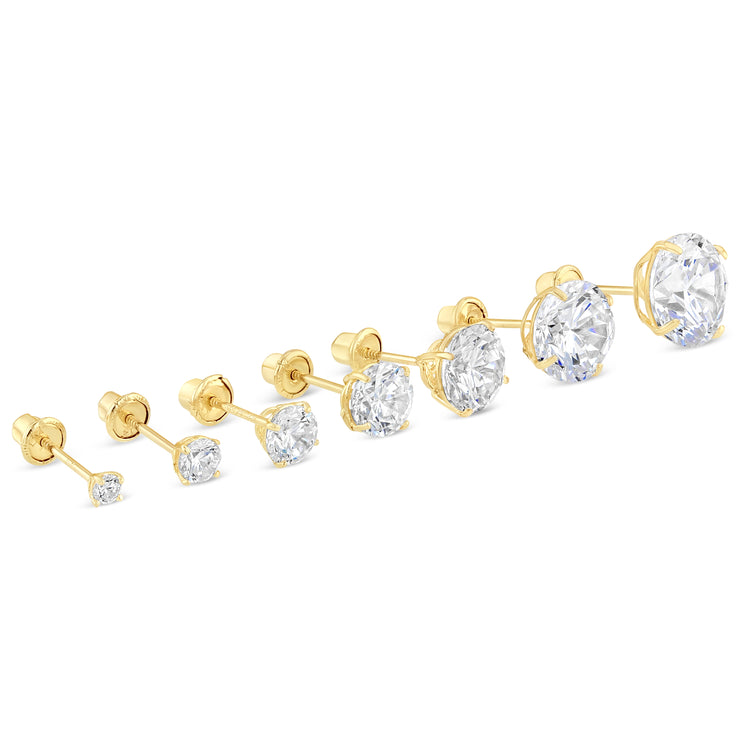 round brialliant cut cz studs for everyday wear daily wear affordable comfortable stud earrings