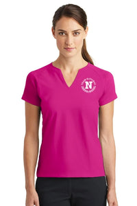 Nike Ladies Dri Fit Stretch V Neck - Fushsia