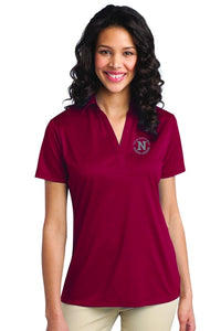Port Authority Ladies Red Polo W/ Silver Logo