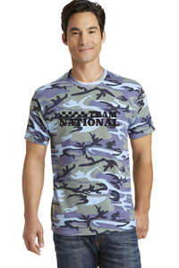 Core Cotton Camo Tee - Woodland Blue