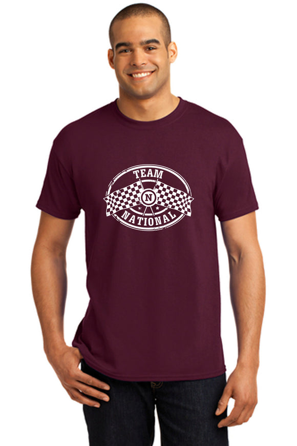 EcoSmart 50/50 Cotton/Poly T-Shirt - Maroon