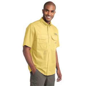 Eddie Bauer Short Sleeve Fishing Shirt - Yellow