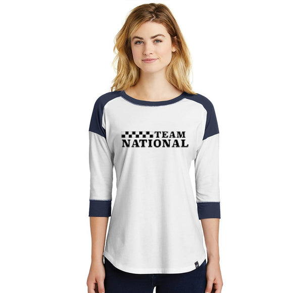 New Era Ladies Heritage Tee - Navy/White