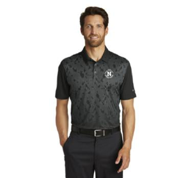 Nike Golf Dri-FIT Mobility Camo Polo - Gray