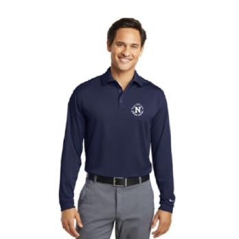 Nike Golf Long Sleeve Dri-Fit Stretch Tech Polo - Navy