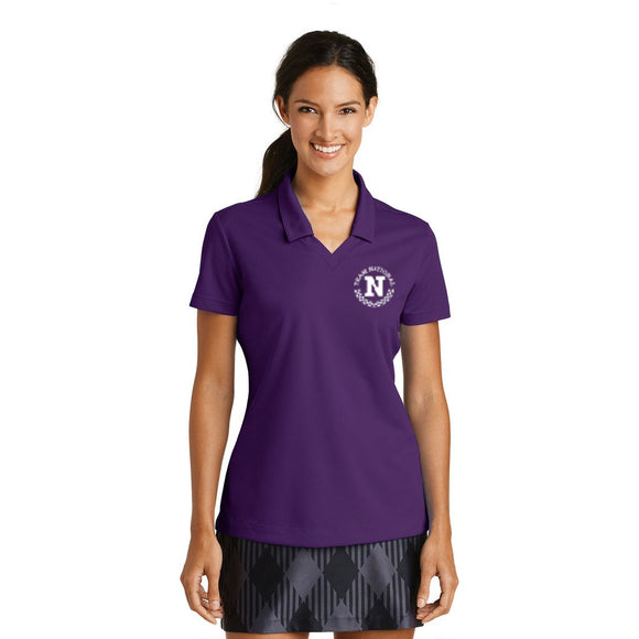 Nike Ladies Dri Fit Micro Pique Polo - Purple